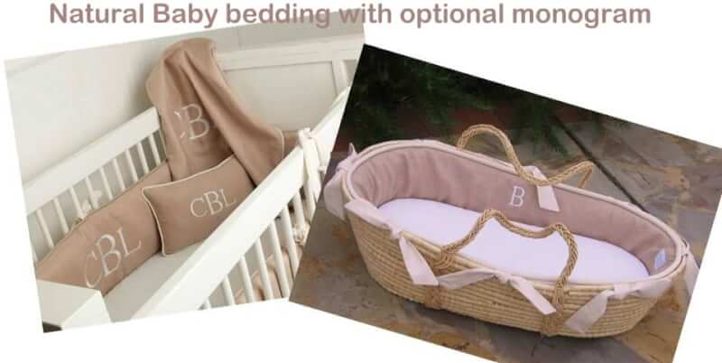 Natural baby bedding & Moses Basket