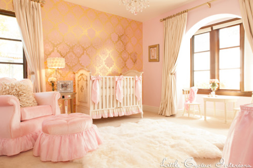 pink-and-gold-girls-nursery