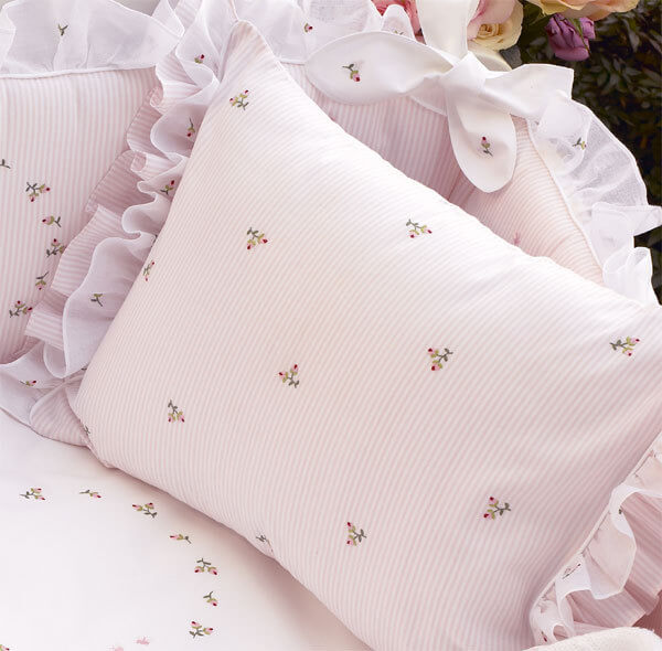 Rosebuds Embroidered Bedding by Gordonsbury